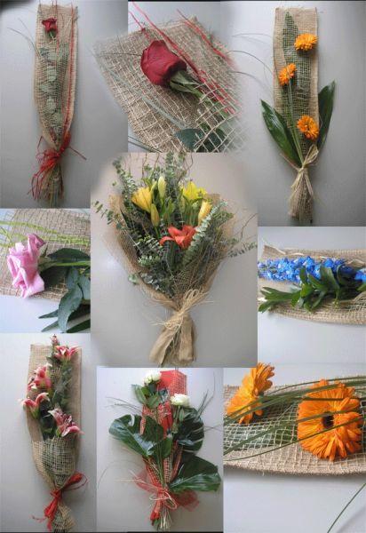 Adornos Florales Ecologicos Hechos En Yute - Adornos-florales