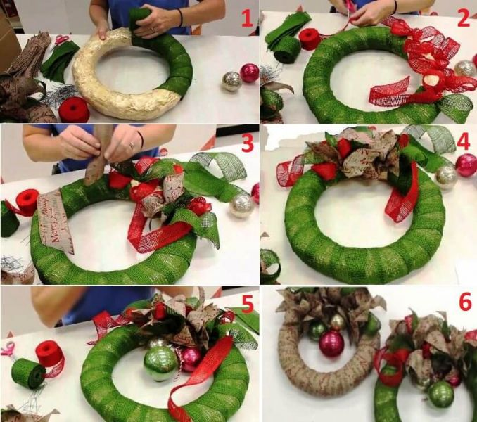Como Hacer Christmas Con Fotos.Burlap Christmas Wreath